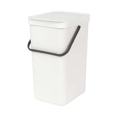 Brabantia sortering affaldsspand 16 liter hvid