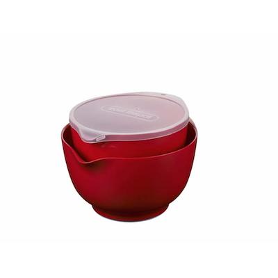 Rosti Margrethe røreskålesæt 2+3 liter rød med låg