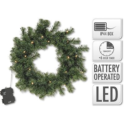 Dørkrans 40 cm med 20 LED lys