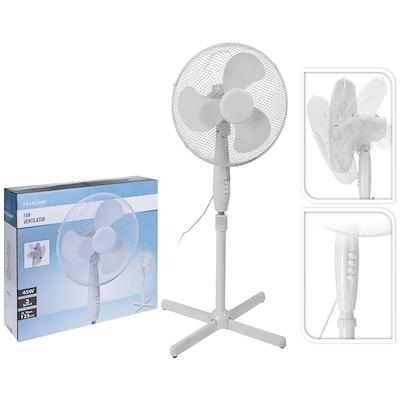 Gulvventilator 45 cm hvid