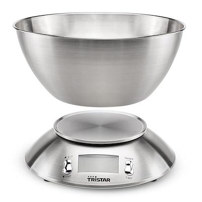 Tristar køkkenvægt 5 kg rustfrit stål