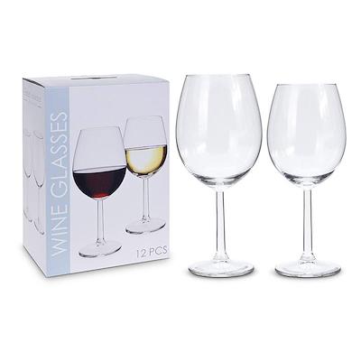 Sæt med 12 vinglas 6 rød- og hvidvin