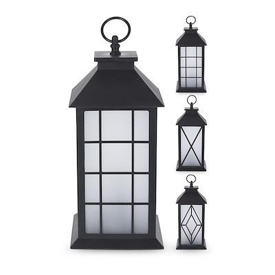 LED lanterne 30 cm sort