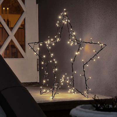 Julestjerne med 130 LED Lys 80 cm