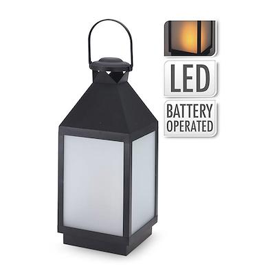 LED lanterne metal sort 47 cm
