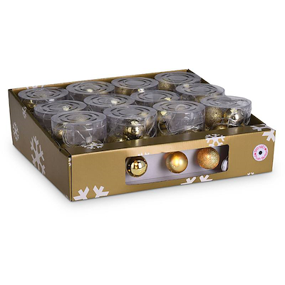 Batterilyskæde 10 guld julekugler