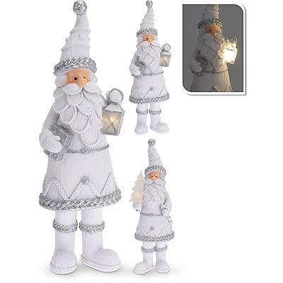 Julefigur hvid med LED lys 27 cm