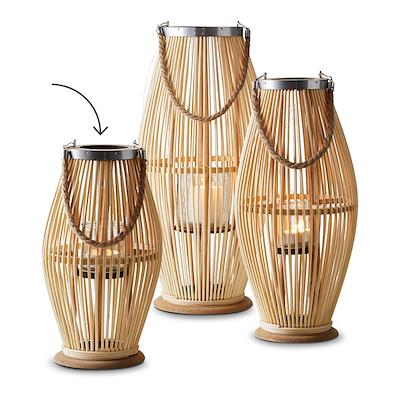 Lanterne i bambus 38 cm