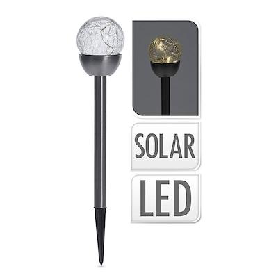 Solcellelampe på spyd 5 stk. 6 cm