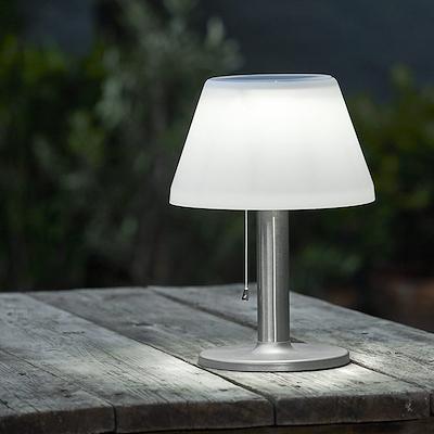 Solcellelampe 10 LED lys