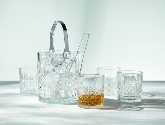 Sæt med isspand og glas