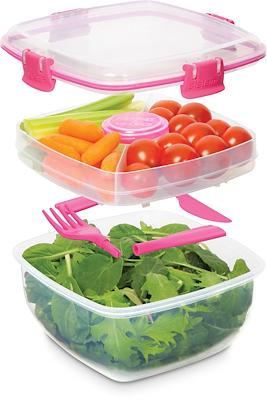 Sistema salad to go 1,1 liter assorteret