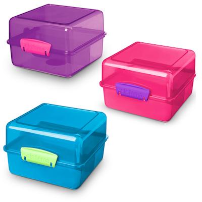 Sistema lunch cube madkasse 1,4 liter assorteret